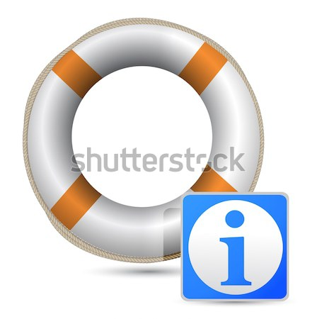SOS Life Buoy information design over white Stock photo © alexmillos