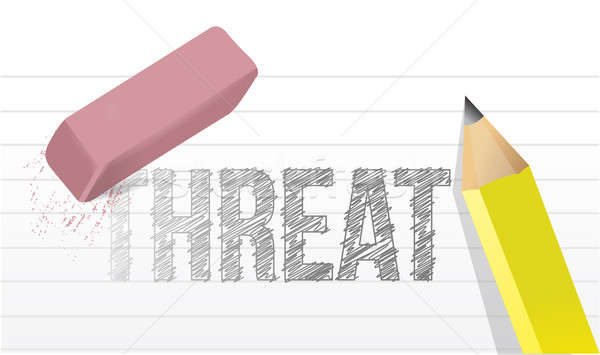 erasing threat concept illustration design over a white backgrou Stock photo © alexmillos