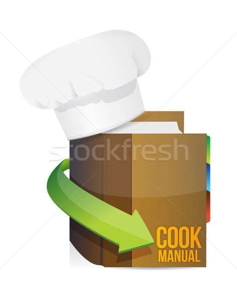 Chefs hat and cook book manual  Stock photo © alexmillos