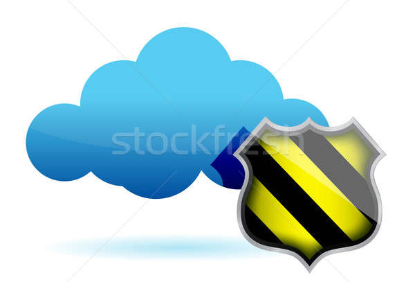 Cloud computing protection illustration Stock photo © alexmillos