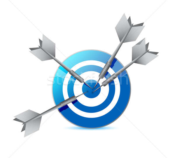target and darts illustration design over a white background Stock photo © alexmillos