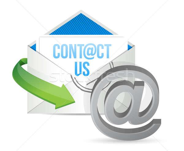 Foto stock: E-mail · ícone · ilustração · projeto · negócio