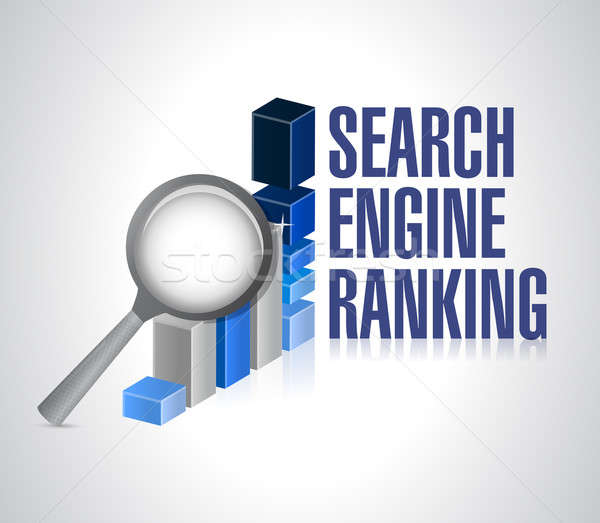 Business graph. search engine ranking search Stock photo © alexmillos