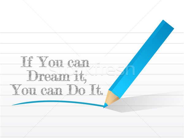 Peuvent rêve un message texture design fond Photo stock © alexmillos