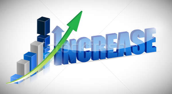 Increase business chart and word  Stock photo © alexmillos