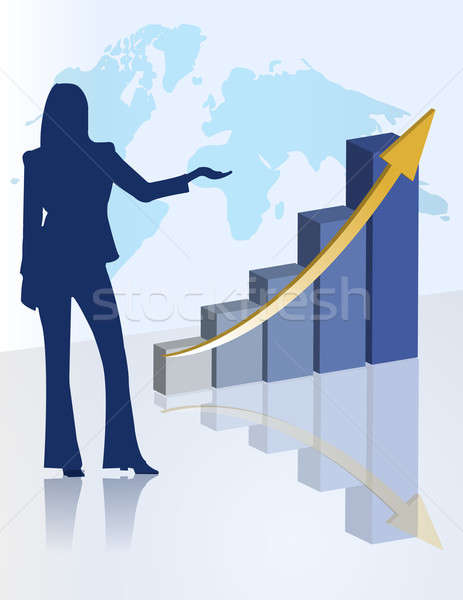 female chart business presentation Stock photo © alexmillos