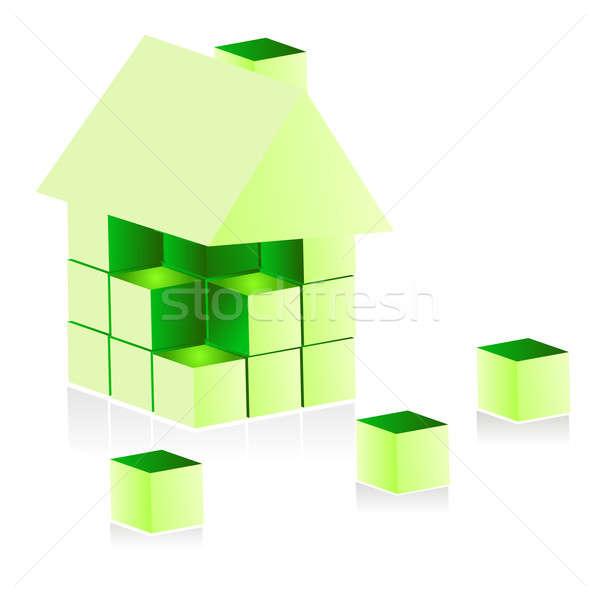 здании теплица дизайна домой зеленый архитектура Сток-фото © alexmillos