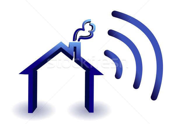 Ev kablosuz bağlantı örnek yalıtılmış beyaz Stok fotoğraf © alexmillos