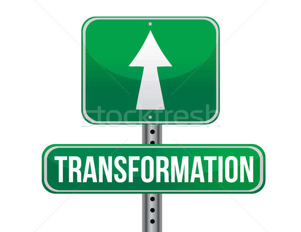 Transformation road sign illustration design  Stock photo © alexmillos