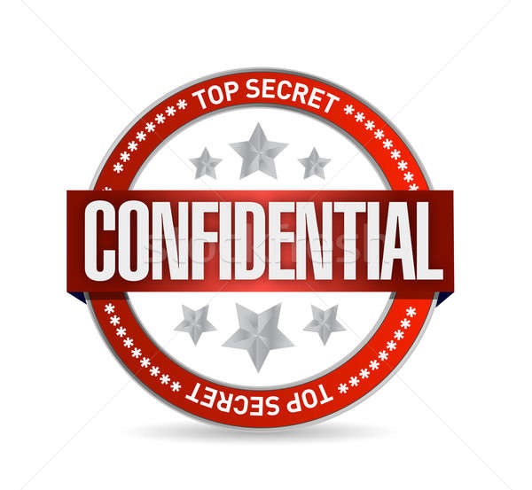 confidential seal illustration design over a white background Stock photo © alexmillos