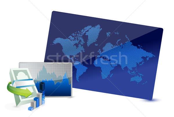 Negocios intercambio stock ilustración diseno blanco Foto stock © alexmillos
