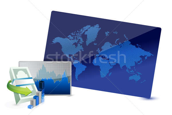 Business uitwisseling voorraad illustratie ontwerp witte Stockfoto © alexmillos