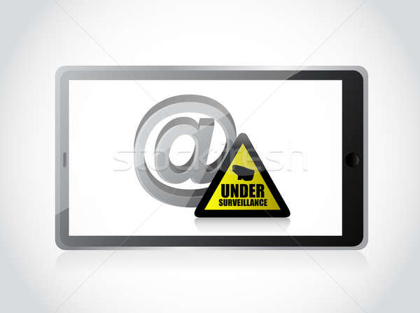 Stock photo: internet surveillance illustration design over a white backgroun