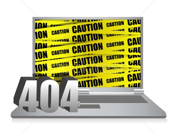 404 エラー ノートパソコン 実例 デザイン 白 ストックフォト © alexmillos