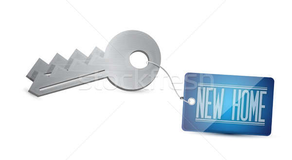 Keys to your new Home Concept Illustration design over white Stock photo © alexmillos