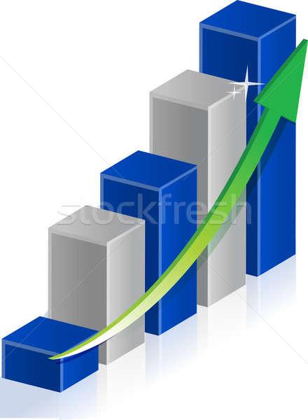 üzleti grafikon illusztráció terv fehér absztrakt felirat Stock fotó © alexmillos