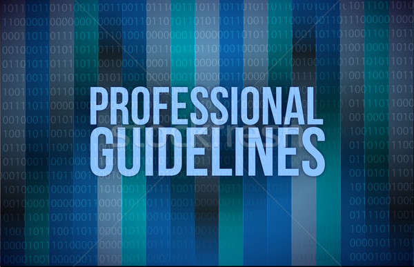 professional guidelines concept binary illustration design blue  Stock photo © alexmillos