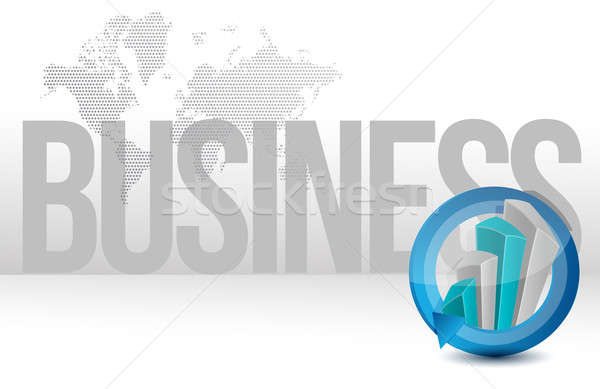 Business graph cycle world illustration design  Stock photo © alexmillos