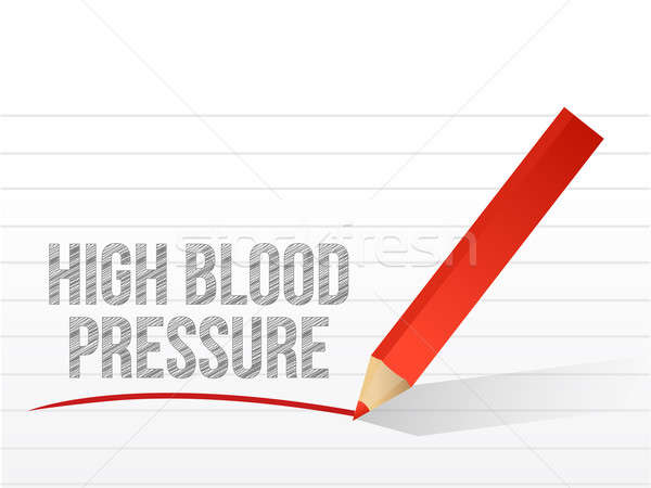 High blood pressure written on a white paper Stock photo © alexmillos