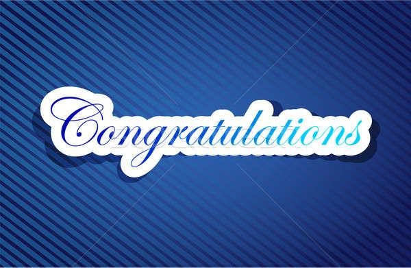 Felicitaciones signo elogios banner texto vector Foto stock © alexmillos