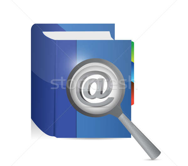 At internet investigation. illustration design  Stock photo © alexmillos