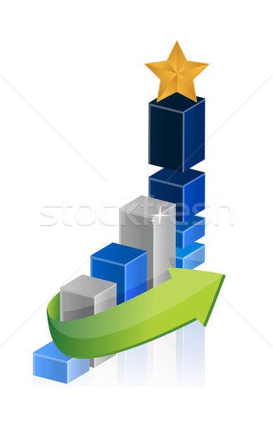 Leider star zakelijke grafiek financieren corporate markt Stockfoto © alexmillos