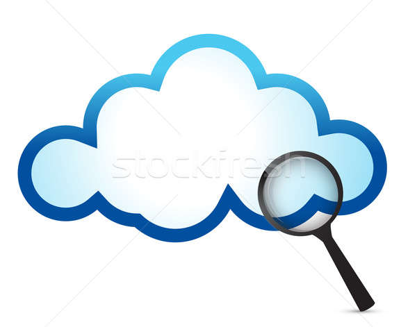 Cloud computing internet security concept illustration design Stock photo © alexmillos