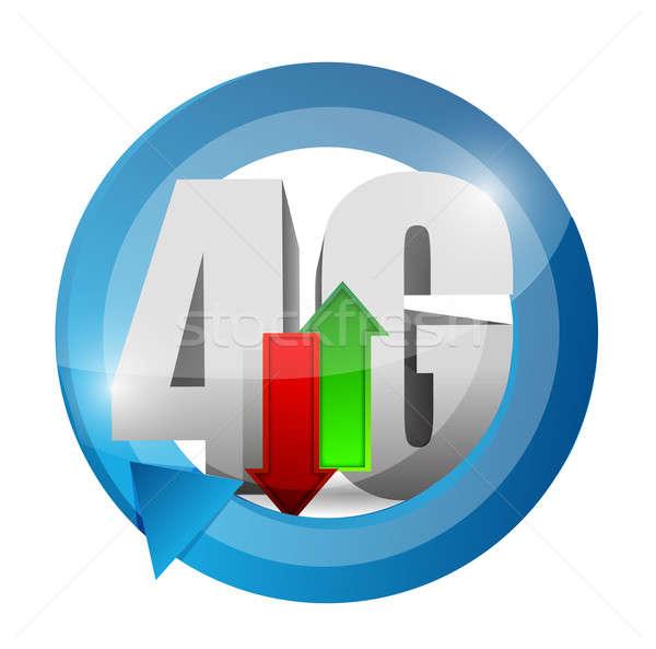 4g kapcsolat illusztráció terv telefon internet Stock fotó © alexmillos