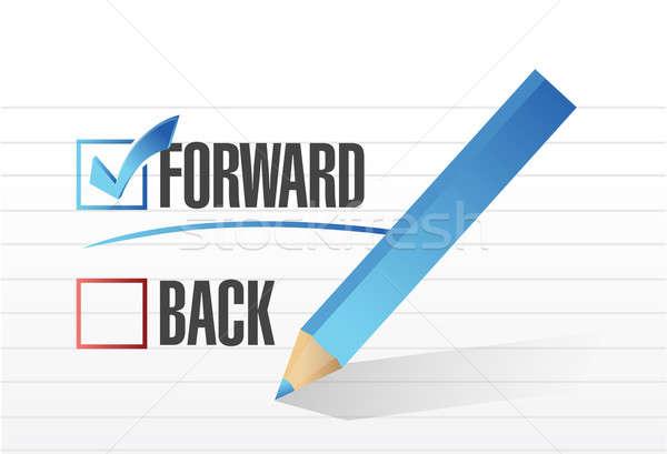 Forward over back. checkmark illustration  Stock photo © alexmillos