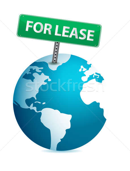 globe for lease illustration design over white background Stock photo © alexmillos