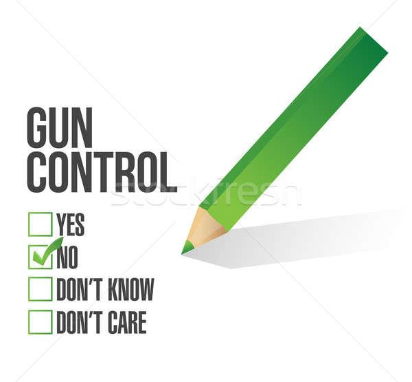 Fegyver szabályozás felmérés illusztráció terv ceruza zöld Stock fotó © alexmillos