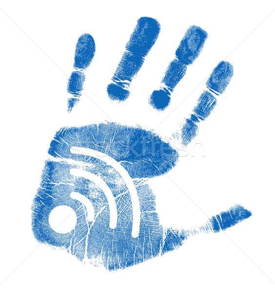 Palm wifi illustrazione design bianco business Foto d'archivio © alexmillos