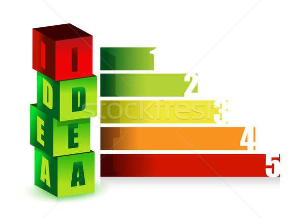 Idea color graph illustration design Stock photo © alexmillos