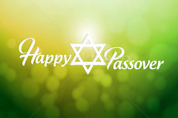 Happy passover sign card illustration design Stock photo © alexmillos