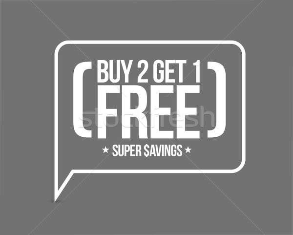 buy 2 get 1 free sale message concept Stock photo © alexmillos