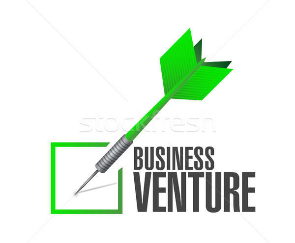 business venture check dart sign concept Stock photo © alexmillos