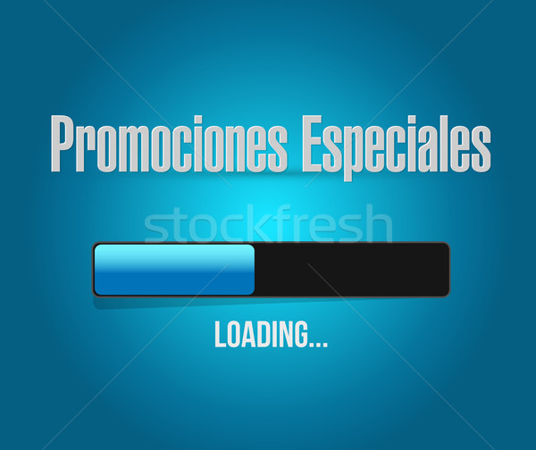 Stock photo: special promotions in Spanish loading bar sign