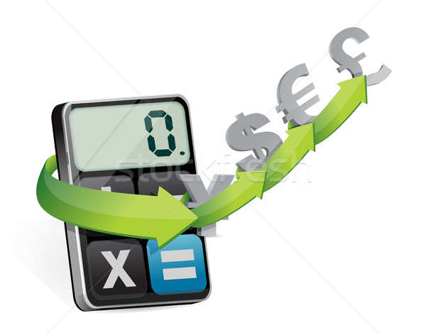 currency exchange and modern calculator Stock photo © alexmillos