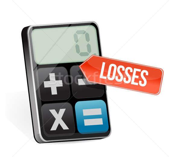 losses and modern calculator Stock photo © alexmillos