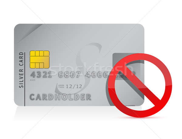 Stock photo: declined Credit Card illustration design