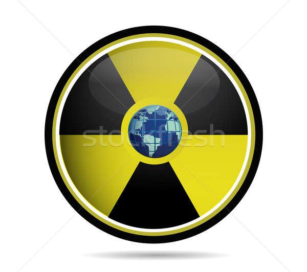 Stock fotó: Nukleáris · felirat · Föld · földgömb · fehér · víz