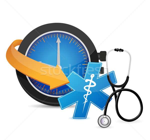 Tijd afspraak illustratie ontwerp witte gezondheid Stockfoto © alexmillos