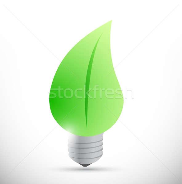Stockfoto: Natuur · gloeilamp · eco · gloeilamp · illustratie