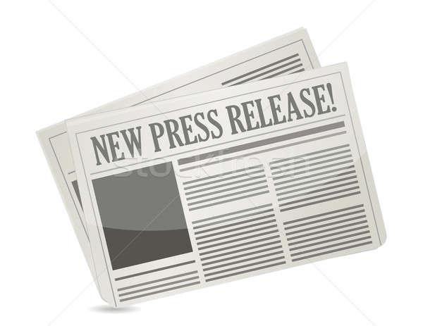new press release illustration design over white Stock photo © alexmillos