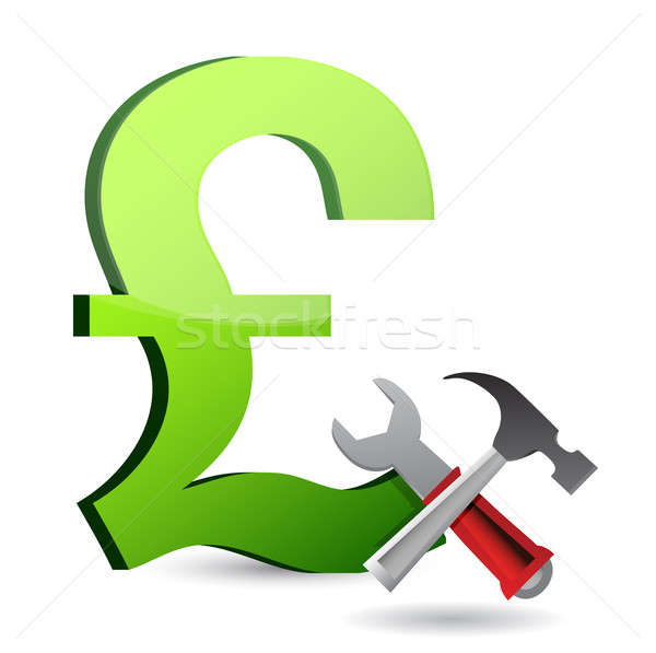 currency tools symbol illustration design over white Stock photo © alexmillos