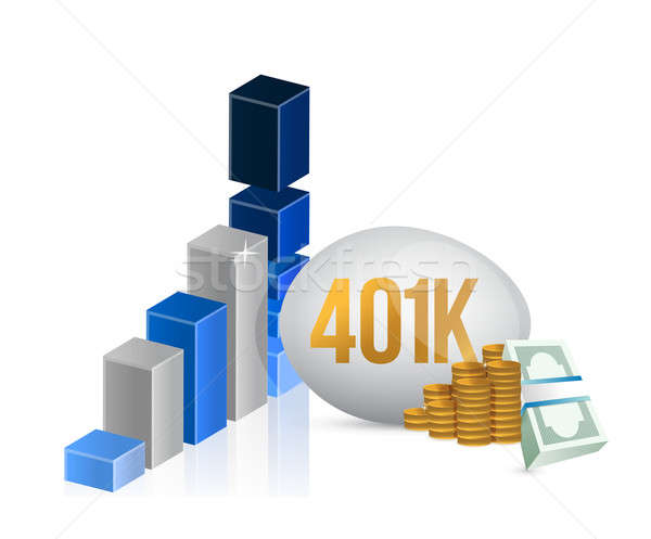 401k egg and cash money graph illustration  Stock photo © alexmillos