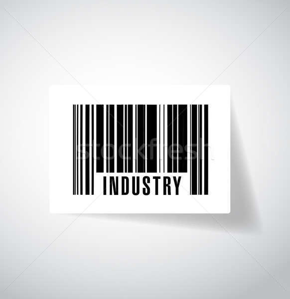 barcode industry illustration design over a white background Stock photo © alexmillos