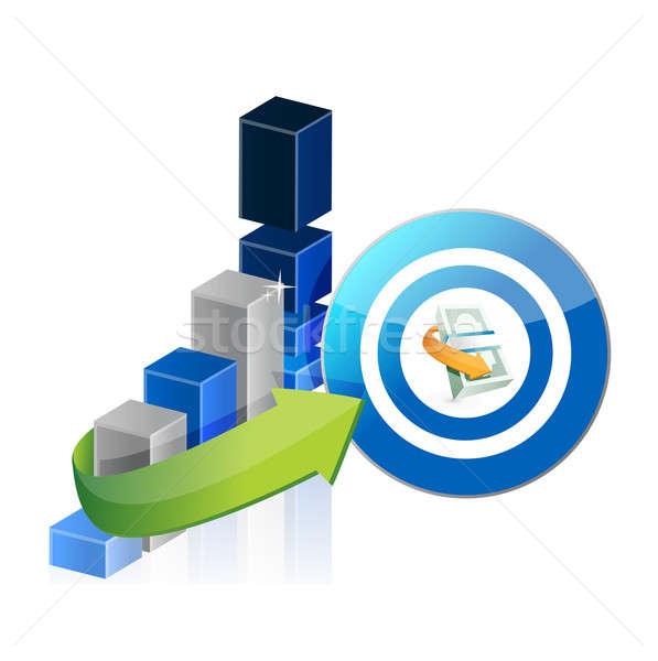 üzleti grafikon pénz cél absztrakt pénzügy piac Stock fotó © alexmillos