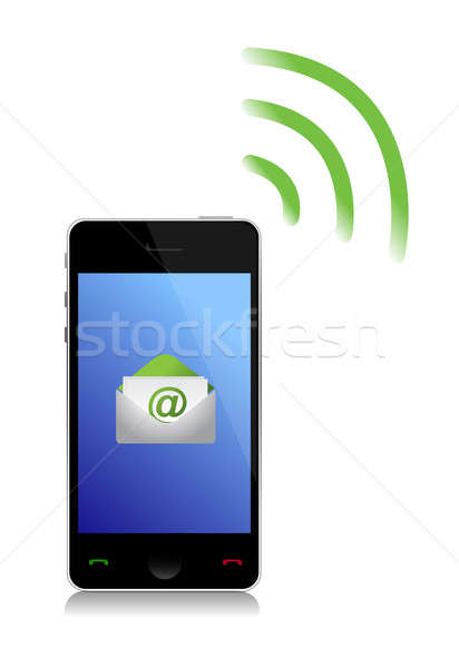 Сток-фото: электронная · почта · телефон · компьютер · технологий · контакт