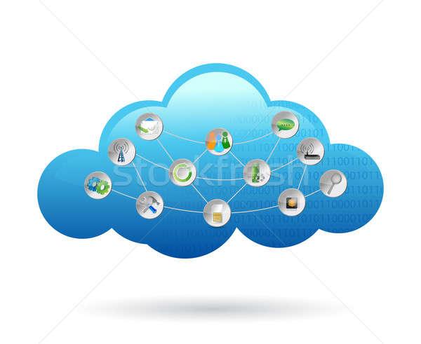 Cloud settings tools Stock photo © alexmillos
